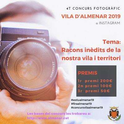4t Concurs Fotogràfic Vila d'Almenar 2019 a Instagram