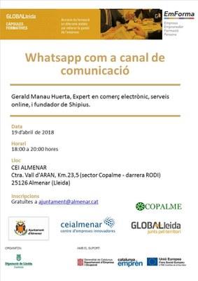 CÀPSULA FORMATIVA: WHATSAPP COM A CANAL DE COMUNICACIÓ