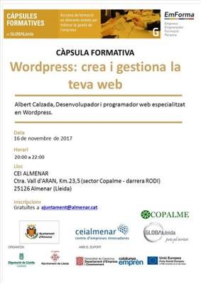 CÀPSULA FORMATIVA: WORDPRESS: CREA I GESTIONA LA TEVA WEB