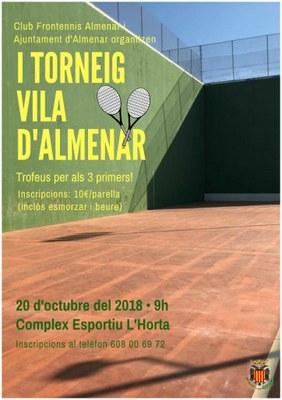 I TORNEIG VILA D'ALMENAR DE FRONTENNIS