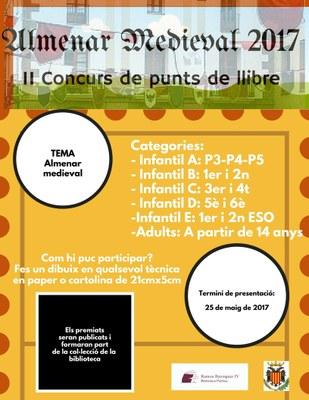 """II Concurs Punts de Llibre """"Almenar Medieval"""""""