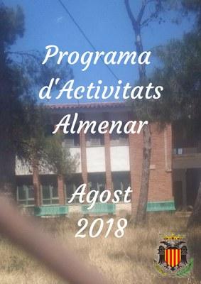 Programa d'Activitats Agost 2018