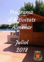 PROGRAMA D'ACTIVITATS JULIOL 2018