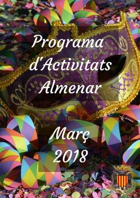 PROGRAMA D'ACTIVITATS MARÇ 2018