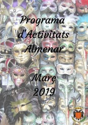 PROGRAMA D'ACTIVITATS MARÇ 2019