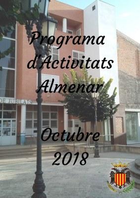 PROGRAMA D'ACTIVITATS OCTUBRE 2018