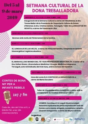 SETMANA CULTURAL DE LA DONA 2019