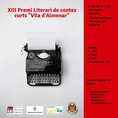 """XIII Concurs de Contes Curts """"Vila d'Almenar"""" 2020"""