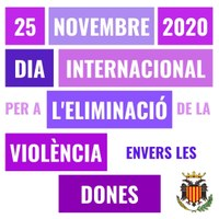 25 Novembre 2020: Dia Internacional per a l'eliminació de la violència envers les dones
